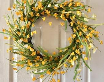 Summer berry wreath, Spring wreath, Floral wreath, Front door wreath, Flower wreath. Everyday wreath.