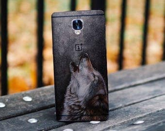 Wolf case, clear OnePlus 3 case, smoke case, OnePlus 3T case silicone case, clear wolf case OnePlus 5 case OnePlus Five case, night sky case