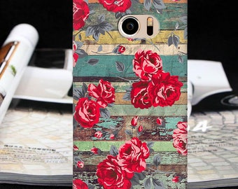 Roses case HTC Wildfire S one XL one m7 m8 one m9 one m10 10 htc 10 Lifestyle floral case Bolt htc 10 evo HTC U Play 10 Pro wood case