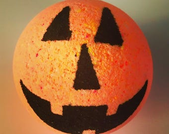 Jack o Lantern Pumpkin Bath Bomb