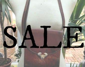 15% OFF SALE || 1970's Leather Shoulder Bag