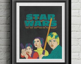 """Star Wars 8""""x10"""" Print"""