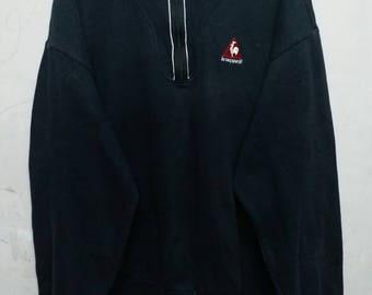 Vintage lecoqsportif half zipper sweatshirt M