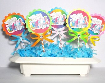 Trolls cupcake topper, 24 pcs, decoration, parties, cupcake, cake, birthday parties, gifts, children or girl