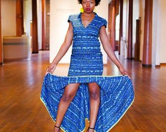Kimani Blue Formal Tall Model 5'10 Large