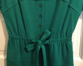 Vintage green double knit dress