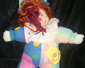 Creepy Clown Horror Doll