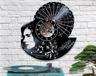 The Vampire Diaries vinyl clock/Vampire Diaries wall clock/Lp record clock/Birthday gift//Vampire gift/Vampire art/Bedroom clock
