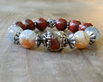 personalized Dragon agate bracelet