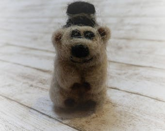 "Needle felted ""Gangsta Bear"""