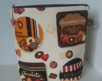 Chocolate Box medium cotton project bag.