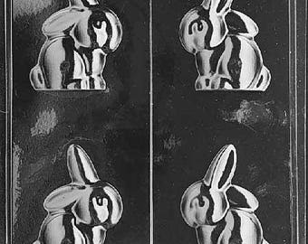 E56- 3D Flop Eared Easter Bunny Chocolate Mould
