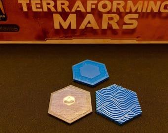 Terraforming Mars Water Tiles (9)