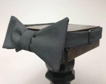 Formal Men's bow tie, self-tie handmade and adjustable from upcycled and repurposed material  // professional attire // ReTied