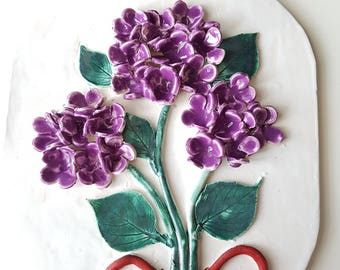 Ceramic wall decor flowers