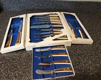 19 Pc Vintage Sheffield English Blades Cutlery