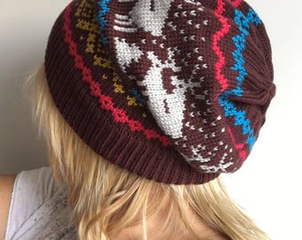 Beanie Norwegian hat for adults