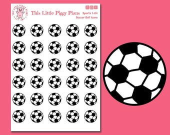 Soccer Ball Planner Stickers - Soccer Stickers - Soccer Practice - Soccer Game - World Cup Stickers - Futbol - Football - [Sports 1-04]