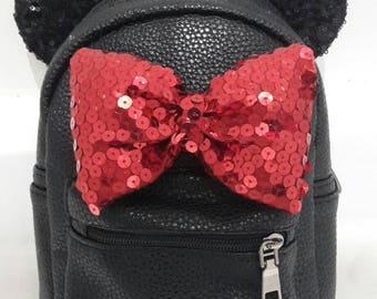 Disney Mickey ears sequin mini backpack, disneyland, Minnie mouse, mouse ears, disney ears, bag.
