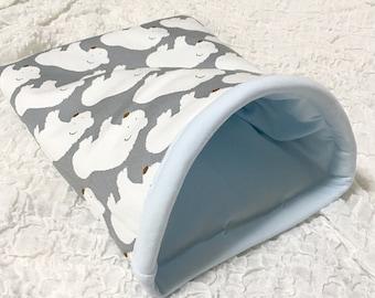 Custom order**Snuggle sack+pad/sleeping bag/cuddle sack/small animals/guinea pig bed/guinea pig pad/guinea pig cage/hedgehog bed