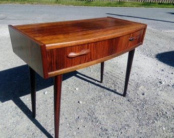 Vintage scandinavian mid century palisander wood console
