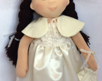 Waldorf doll Bride can be a great gift for the wedding. Play doll suitable for both adult and child.