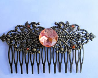 Large hair comb for women // fashion comb // fancy comb // retro comb // hairdressing accessory / vintage