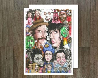 The Mighty Boosh, Eco Friendly, Cult Caricature Greeting Card