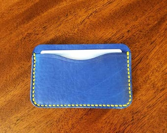 Wallet, card wallet, leather card wallet, leather wallet, horween leather wallet, card case, minimalist wallet, leather card wallet