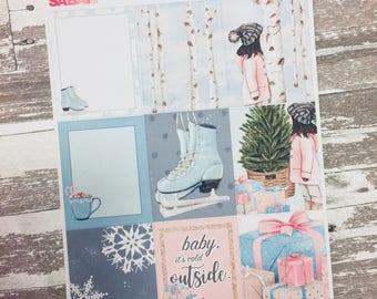 Winter Holiday Weekly Kit Sticker | Erin Condren Vertical Weekly Kit