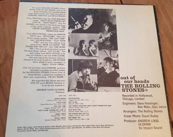 The Rolling Stones out of our heads LP Record 1965 London PS 429