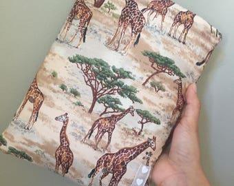 Book Cover / Book Sleeve - Giraffe BookBurrow