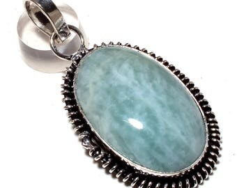 Green Quartz GEMSTONE .925 silver pendant handmade jewelry