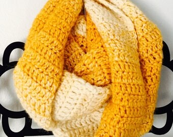 Mustard Color Infinity Scarf