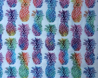 Multicolored Pineapple Crib Sheet | Toddler Bed Sheet