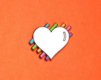 Pastel Heart Rose Gold Hard Enamel Lapel Pin