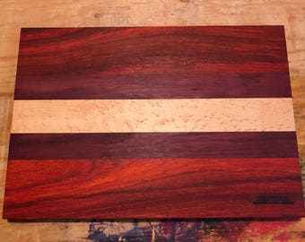Fabulous Bubinga/Birdseye Maple/Purpleheart wood Cutting Board
