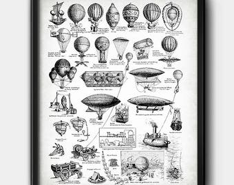 Balloons · Aerostation · Vintage · Instant download · Aeronautical #165