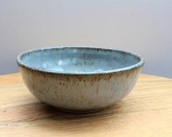 Ceramic Bowl Shallow Medium Grey Blue