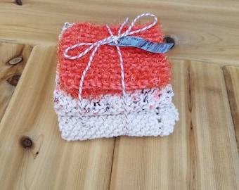 Knit dishcloth gift set