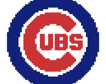 Chicago Cubs Cross stitch pattern, MLB cross stitch, Chicago Cubs logo