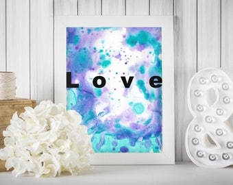 The Flow of Love, Wall Print, Inspirational Art, Romantic Print, Anniversary Print, Quote