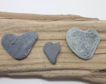 Sea heart slates naturally formed,perfect for crafts,genuine scottish beach finds.