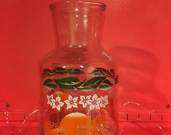 Vintage Orange Juice Carafe in Excellent Condition