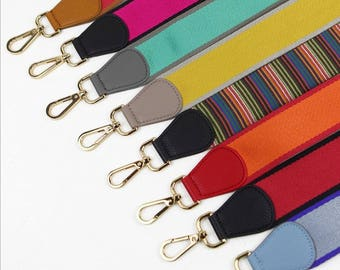 purse strap canvas strap Genuine leather Purse Strap Replacement Handle Real leather bag hadnbag Strap Adjustable 105 *5 cm