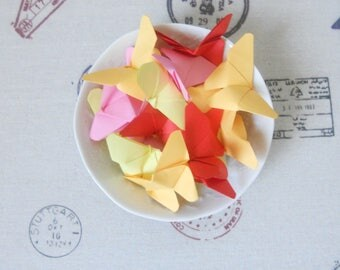 Butterfly origami for special message