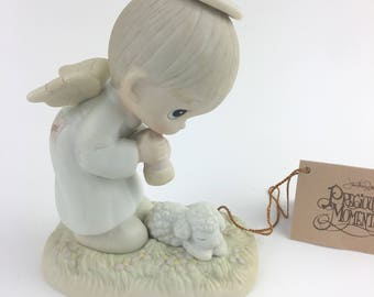 Vintage Precious Moments Gods Ray Of Mercy Members Only Figurine PM-841