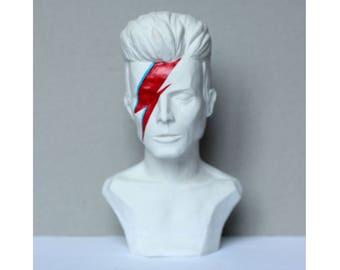 Bowie bust Bowie statue Bowie decor Bowie figurine Bowie collect Aladdin Sane Ziggy Stardust Bowie handmade Toptable sculpture Bowie gift