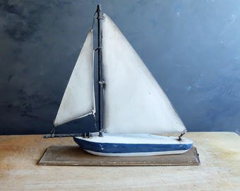 Antique French sail boat handmade