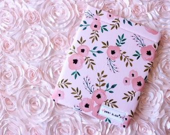 Peach Floral Book Sleeve